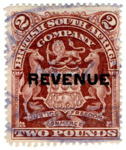 (I.B) Rhodesia/BSAC Revenue : Duty Stamp £2