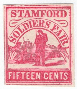 (I.B) US Local Post : Soldier's Fair 15c (Stamford)