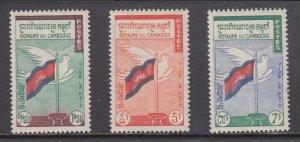 Cambodia    #88-90    mnh      cat $2.25