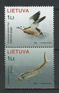 Lithuania 2006 Birds, Fish 2 MNH stamps