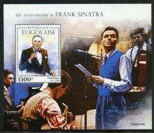 TOGO 2020  105th  ANNIVERSARY OF  FRANK SINATRA   SOUVENIR SHEET MINT NH
