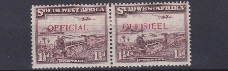 SOUTH WEST AFRICA  1938   S G  017   1 1/2D  PURPLE  BROWN    MH