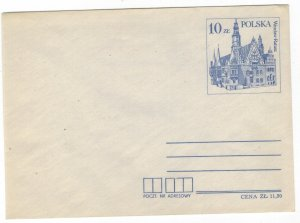 Poland 1985 Postal Stationary Envelope MNH Stamp Wroclaw Town Hall
