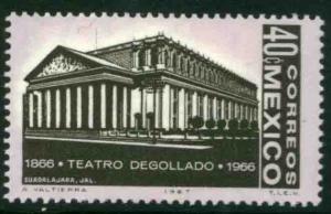 MEXICO 979 Centenary of Degollado Theater in Guadalajara MNH