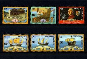ANTIGUA - 1992 - COLUMBUS - DISCOVERY OF AMERICA - COLUMBIAN + MINT - MNH SET!
