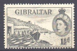 Gibraltar Scott 134 - SG147, 1953 Elizabeth II 1.1/2d MH*