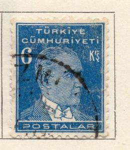 Turkey 1931-36 Early Issue Fine Used 6k. 272076