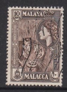 Malaya Malacca 1957 Sc 50 QEII 10c Used