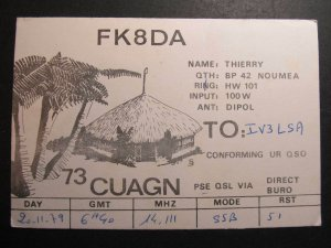 9962 Amateur Radio QSL Card NOUMEA NEW CALEDONIA