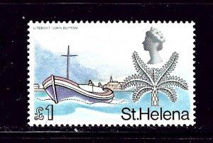 St Helena 223 MNH 1968 Boat