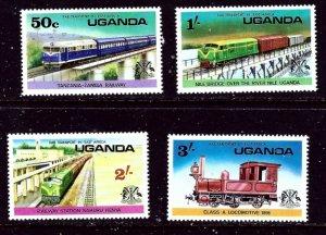 Uganda 155-58 MNH 1976 Trains    (ap5809)