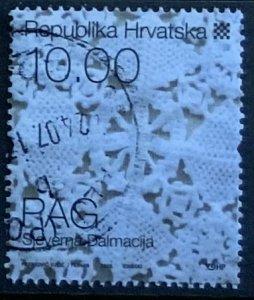 CROATIA 2008 FOLK COSTUME 10K LACE SG955 ..FINE USED