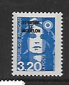 ST. PIERRE & MIQUELON, 534, MNH, FRANCE OVPTD ST. PIERRE ET MIQUELON