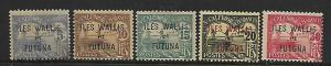 WALLIS & FUTUNA  J1-J5   MINT HINGED, POSTAGE DUE, SHORT SET 1920
