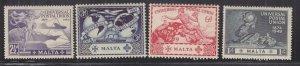 MALTA, 1949 UPU set of 4, mnh., small spot on 3d.