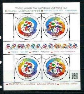 Poland 2013 Mini Sheet Mi 4619-0 MNH Cycling Tour 10337