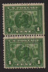 1913 US 1c, Used Pair, Vasco Nunez de Balboa, Sc 397