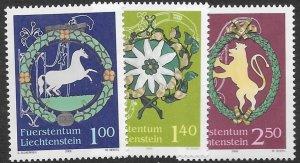 Liechtenstein 1317-19   2005  set  3  VF NH