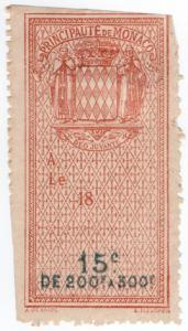 (I.B) Monaco Revenue : Effets de Commerce 15c