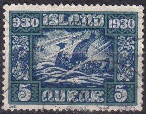 Iceland #153 F-VF Used CV $10.00 (Z6463)