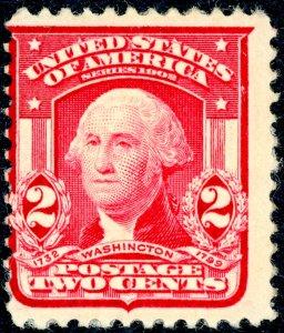 US #319 1903 2c Washington, carmine.  MNH OG Fine.