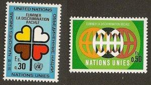 United Nations 19-20 Geneva Eliminate Racial Discrimination set MNH 1971
