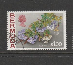 Bermuda 1970 Flowers Defs $1 FU SG 263a