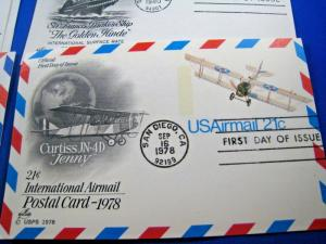 U.S. FIRST DAY COVER POSTAL CARDS - LOT of 17 - 1978-1981    (FG37)
