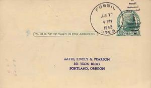 United States, Oregon, Government Postal Card