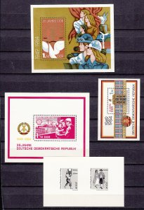 Z2898 jlstamps various 1984 germany ddr mnh with sets & s/s, 2 scans