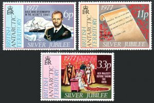 British Antarctic Territory 68-70, MNH. QE II Silver Jubilee of the Reign. 1977