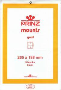 PRINZ BLACK MOUNTS 265X188 (5) RETAIL PRICE $14.00