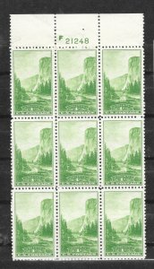 740-749 National Parks Plate Blocks of 9,  FREE Shipping,