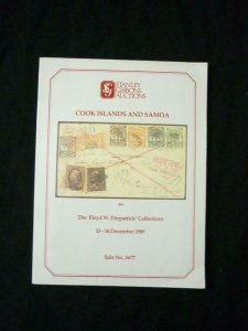 STANLEY GIBBONS AUCTION CATALOGUE 1989 COOK ISLANDS & SAMOA 'FITZPATRICK'