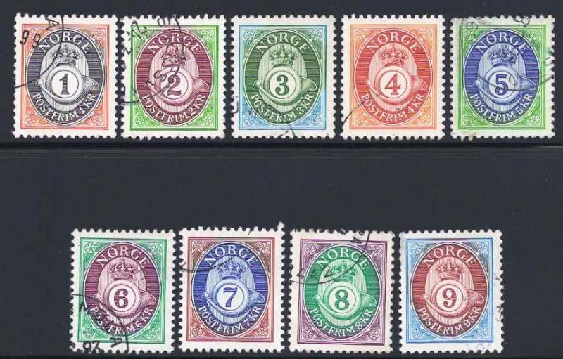 Norway 960-968 (964 short perfs) Used VF