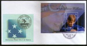 Micronesia 2003 Prince William Birthday Royal Family Sc 544 M/s FDC # 16575