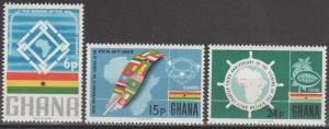 Ghana #256-8  MNH F-VF (SU602)