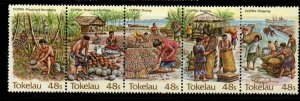 Tokelau 103 1984 Copra stamp strip mint NH