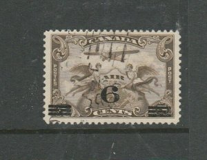 Canada 1932 6c on 5c Air stamp, Used SG 313