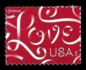 US #4626 45c Love Ribbons, MNH, (PCB-3)