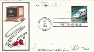 Pugh Designed/Painted Hovercraft FDC...175 of 204 created!