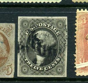Scott #17 Washington Used Imperf Stamp w/ PSE Cert (Stock #17-10)