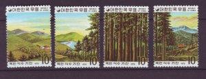 J21960 Jlstamps 1975 south korea set mh #954a-d trees