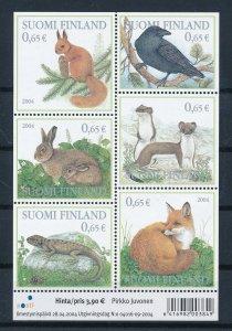 [I2660] Finland 2004 Fauna good sheet very fine MNH