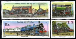 Bophuthatswana - 1993 Steam Locomotives Set MNH** SG 293-296
