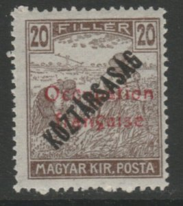 Hungary French Occupation Arad Issue 1919 20f MNH** A18P16F628