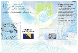 BOSNIA&HERZ. - (IRC) INTERNATIONAL REPLY COUPON (31.12.2021) (POSTMARKED), MNH