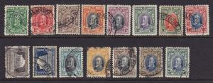 S. Rhodesia Scott #'s 16 - 30 set VF used complete cv $ 162 ! see pic !