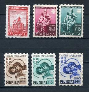 Serbia 1941-2 Sc 2NB7-9c 2NB21-2 2NB32 MH