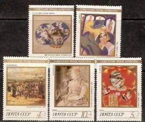 USSR - Russia 1989  Painting Porcelain, Art, Culture 5v Mi 6003-07MNH** # 1258